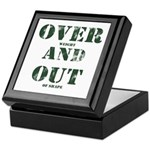 Over & Out Keepsake Box