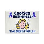 Cooties Awareness Rectangle Magnet