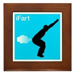 iFart Funny Spoof Framed Tile