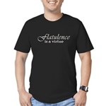 Flatulence Is A Virtue Men's Fitted T-Shirt (dark)