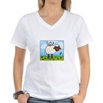 Spring Sheep Women's V-Neck T-Shirt