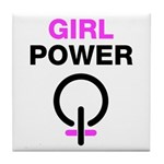 Girl Power Symbol Tile Coaster