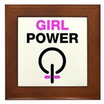 Girl Power Symbol Framed Tile