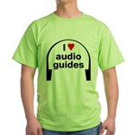 I Love Audio Guides Green T-Shirt
