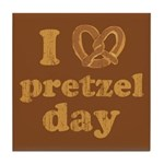 I Pretzel Pretzel Day Tile Coaster