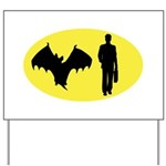 Bat Man Yard Sign
