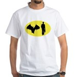 Bat Man White T-Shirt