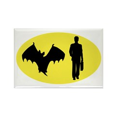 Bat Man Rectangle Magnet