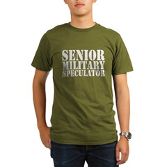 Senior Military Speculator Organic Men's T-Shirt (dark)