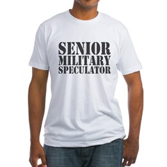 Senior Military Speculator Fitted T-Shirt