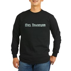 Mrs. Nakamura Long Sleeve Dark T-Shirt