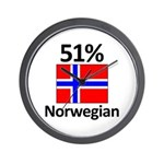 51% Norwegian Wall Clock