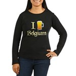 I Love Belgium (Beer) Women's Long Sleeve Dark T-Shirt