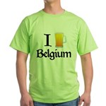 I Love Belgium (Beer) Green T-Shirt
