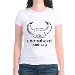 Trondheim Norway Viking Hat Jr. Ringer T-Shirt