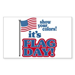 Flag Day Sticker (Rectangle)