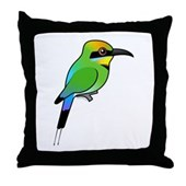 Rainbow Bee-eater Throw Pillow