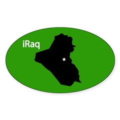 iRaq Sticker (Oval)