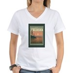 Visit Beautiful Alaska Women's V-Neck T-Shirt