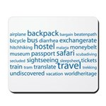 Travel Tag Cloud Mousepad