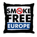 Smoke Free Europe Throw Pillow
