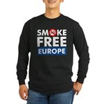 Smoke Free Europe Long Sleeve Dark T-Shirt