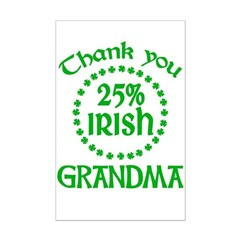 25% Irish - Thank You Grandma Mini Poster Print