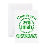 25% Irish - Thank You Grandma Greeting Card