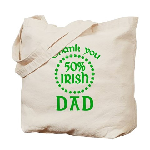 50% Irish - Dad Tote Bag