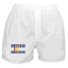 Barcode Colorado Flag Boxer Shorts
