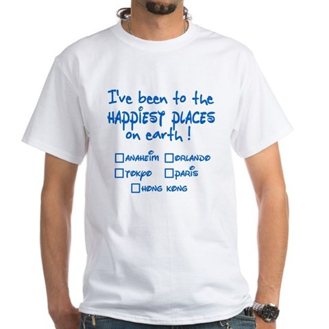 Happiest Places on Earth White T-Shirt