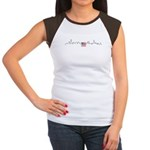 American Flag Chicago Skyline Women's Cap Sleeve T-Shirt