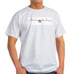 American Flag Chicago Skyline Light T-Shirt