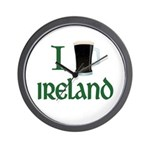 I Love Ireland (beer) Wall Clock