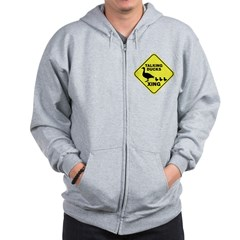 Talking Ducks Crossing Zip Hoodie