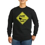 Talking Ducks Crossing Long Sleeve Dark T-Shirt