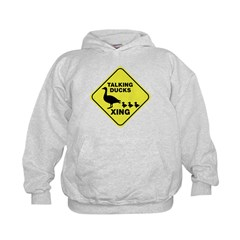Talking Ducks Crossing Kids Hoodie