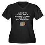 I Went to Plain Awful.. Women's Plus Size V-Neck Dark T-Shirt