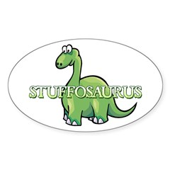 Stuffosaurus Logo Sticker (Oval)