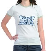 Dives Well With Others Jr. Ringer T-Shirt