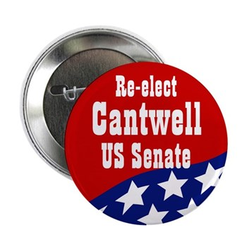 Re-Elect Maria Cantwell campaign button