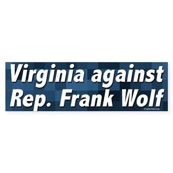 Virginia Against Frank Wolf bumper sticker