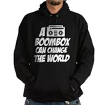A Boombox Can Change the World Hoodie (dark)