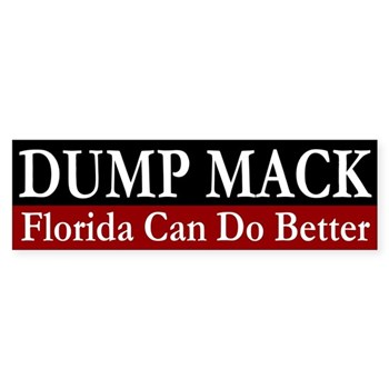 Dump Connie Mack bumper sticker