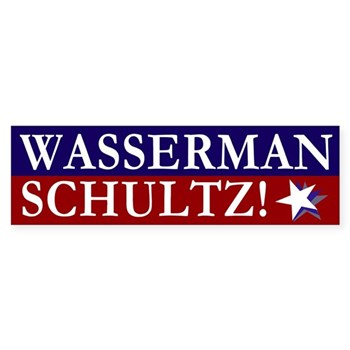 Debbie Wasserman Schultz Bumper Sticker for Congress in the state of Florida