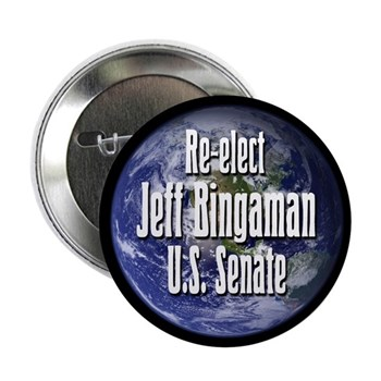 Re-Elect Jeff Bingaman New Mexico political campaign button
