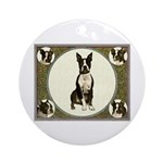 Collage Boston Terrier Ornament