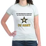 Army Boyfriend Serving Jr. Ringer T-Shirt