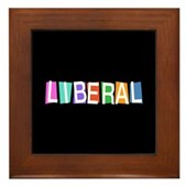 Colorful Retro Liberal Framed Tile
