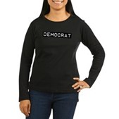 Democrat Label Women's Long Sleeve Dark T-Shirt
